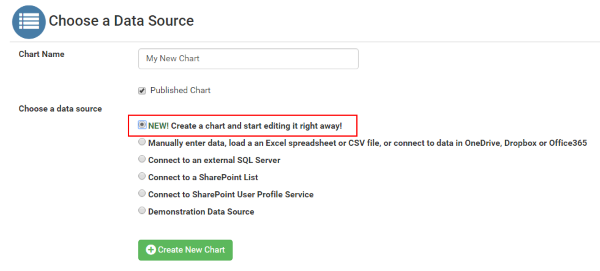 Choose data source
