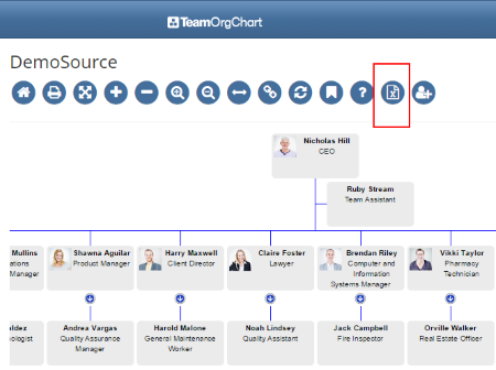 Export Org Chart to Excel