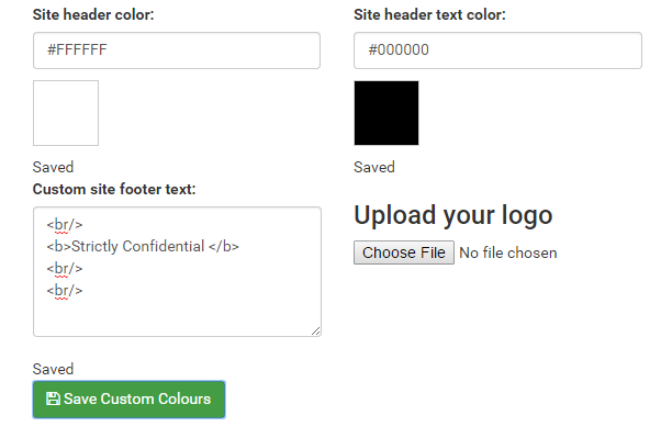 Changing the custom footer text.