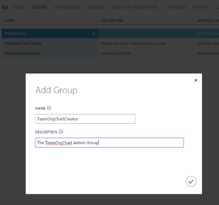 Create the Azure AD Group