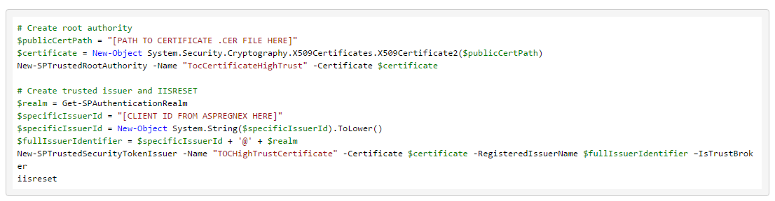 Powershell Script Required for Configuration